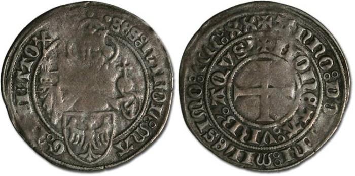 Ancient Coins - Aachen - Groschen 1420 - F