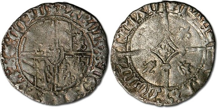 Ancient Coins - Flanders - Half Stuyver, Charles-le-Temeraire, 1467-1477 - F