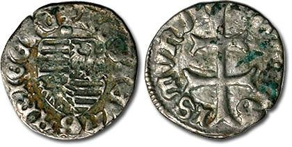 Ancient Coins - Hungary - Husz. 576 - Denar (MM: ··), VG