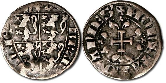 Ancient Coins - Brabant - Esterlin, Jean III, 1312-1355 - F