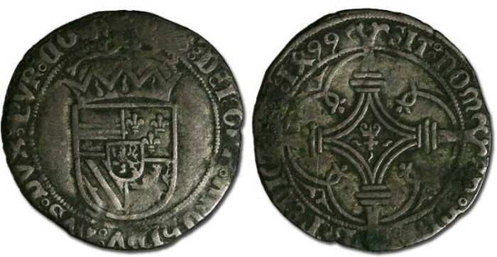 Ancient Coins - Namur - Philip the Fair, 1492-1506 - Patard 1499 - F