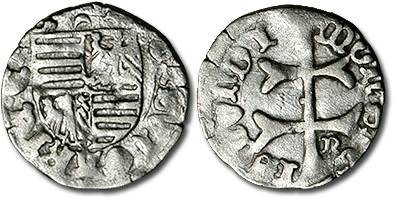 Ancient Coins - Hungary - Husz. 576 - Denar (MM: crescent-n), VG