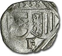 World Coins - Austria, Linz (Oberösterreich), Ferdinand I, 1521-1564 - Uniface Pfennig 1538 - XF, cleaned