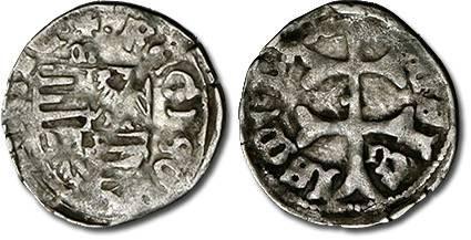 World Coins - Hungary - Husz. 576 - Denar (MM: m-n), VG+