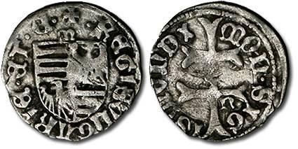 Ancient Coins - Hungary - Husz. 576 - Denar (MM: m-n), F+