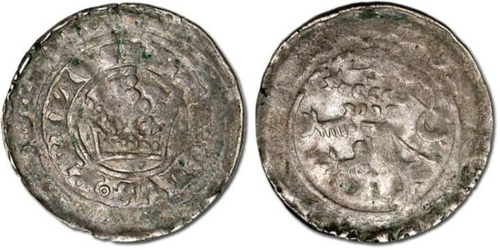 Ancient Coins - Bohemia - Karl I, 1346-1378 - Prager Groschen - Crude VG+