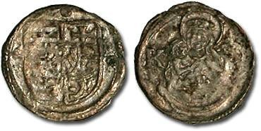 Ancient Coins - Hungary - Wladislavs II, 1490-1516 - Obolus (MM: K-h) - F
