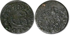 World Coins - Livonia - 1 Schilling 16--, Charles XI - F