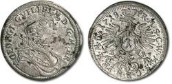 World Coins - Brandenburg-Bayreuth - 1 Kreuzer 1718 SR - XF+