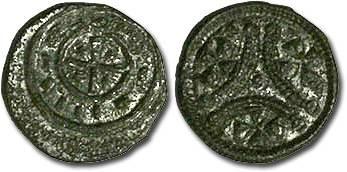 Ancient Coins - Hungary - Anonymous Denar 13th c. - VF+