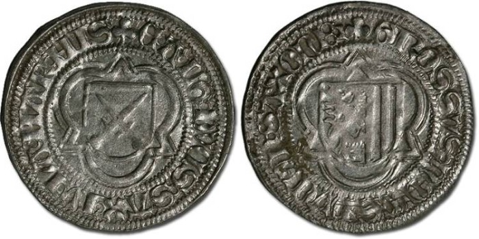 Ancient Coins - Saxony, Ernst and Albrecht, 1482-1485 - Half Schwertgroschen 1482 - VF+, bold date, cleaned