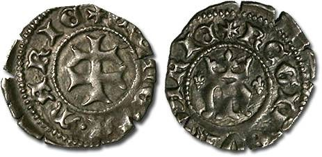 Ancient Coins - Hungary - Maria, 1385-1395 - Denar - VF (MM: lis-lis)