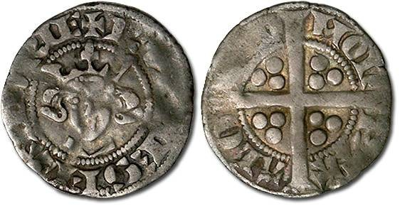 Ancient Coins - Flanders - Esterlin, Robert III, 1305-1322 - F