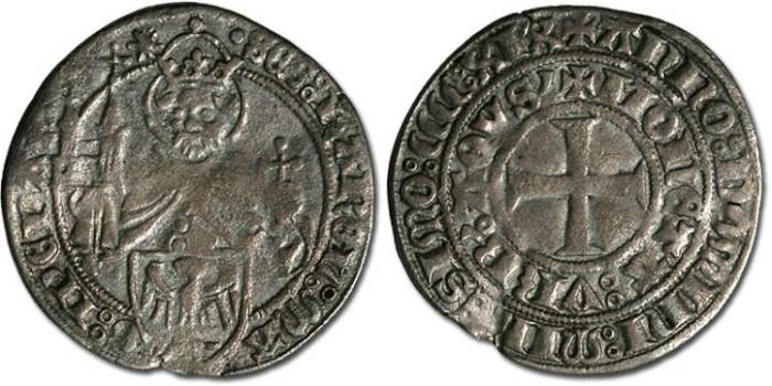 Ancient Coins - Aachen - Groschen 1419 - F+
