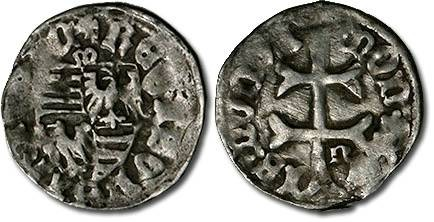 Ancient Coins - Hungary - Husz. 576 - Denar (MM: m-n), VG+