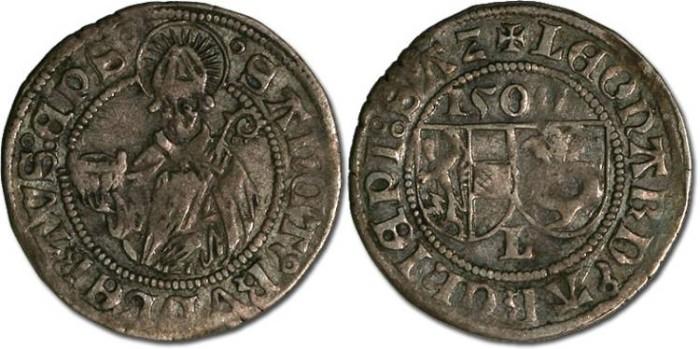 Ancient Coins - Salzburg, Archbishopric, Leonhard von Keutschach, 1495-1519 - Batzen 1500 - VF