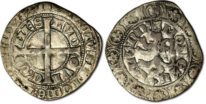 Ancient Coins - Flanders - Groot de Leeuw (Lion Groat), Louis de Male, 1346-1364 - F
