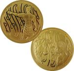 Mints Coins - MAUI AND THE FIRST DOG Irawaru Tekau Tara Set 2 Gold Coins 10$ New Zealand 2020
