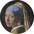 Mints Coins - GIRL PEARL EARRING Vermeer Great Micromosaic Passion 3 Oz Silver Coin 20$ Palau 2019