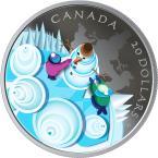 Mints Coins - MYSTICAL SNOW DAY 1 Oz Silver Coin 20$ Canada 2019