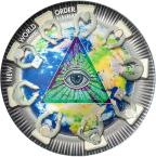 Mints Coins - NEW WORLD ORDER Great Conspiracies 2 Oz Silver Coin 10$ Palau 2021