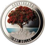 Mints Coins - POHUTUKAWA Christmas Tree 1 Oz Silver Coin 1$ New Zealand 2021