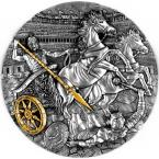 Mints Coins - CHARIOT Rydwan Warfare Gold Plating 2 Oz Silver Coin 5$ Niue 2019