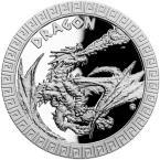 Mints Coins - DRAGON Mythical Creatures 1 Oz Silver Coin 2$ Niue 2020