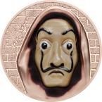 Mints Coins - SALVATORE Dali Money Heist Revolutionary Masks 1 Oz Silver Coin 5$ Cook Islands 2018