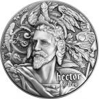 Mints Coins - HECTOR TROY Nine Worthies 2 Oz Silver Coin 5$ Niue 2020