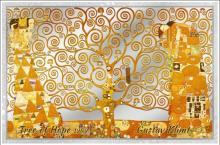 Mints Coins - TREE OF LIFE Gustav Hope Klimt Foil Silver Note 5$ Cook Islands 2019
