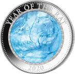 Mints Coins - RAT Mother of Pearl Lunar Year Series 5 Oz Silver Coin 25$ Cook Islands 2020