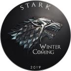 Mints Coins - STARK Winter Coming Game of Thrones GOT Walking Liberty 1 Oz Silver Coin 1$ USA 2019