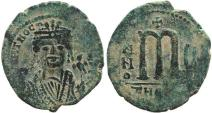 Ancient Coins - Byzantine coin of Maurice Tiberius AE Follis - Antioch - Year 5