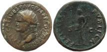 Ancient Coins - Roman coin of Vespasian Ae 27 - FELICITAS PVBLICA