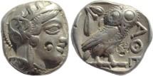 Ancient Coins - Attica, Athens AR Silver Tetradrachm - Judaean countermark