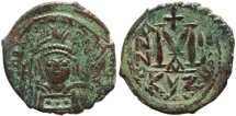 Ancient Coins - Byzantine coin of Heraclius 610-641 AD AE Follis - Cyzicus