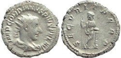 Ancient Coins - Gordian III AR silver antoninianus - SECVRIT PERP