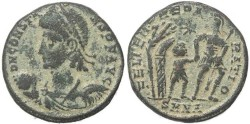 Ancient Coins - Roman coin of Constans cententionalis - FEL TEMP REPARATIO - Nicomedia Mint