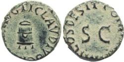 Ancient Coins - Ancient Roman coin of Claudius - Ae quadrans - Modius