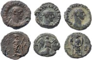 Ancient Coins - 3 Diocletian Potin Tetradrachms minted in Alexandria, Egypt