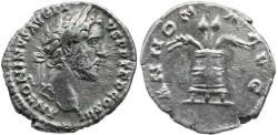 Ancient Coins - Antoninus Pius AR Denarius - ANNONA AVG