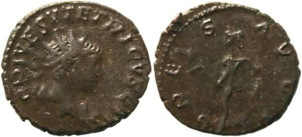 Ancient Coins - Tetricus II Antoninianus - Trier Mint - SPES AVGG