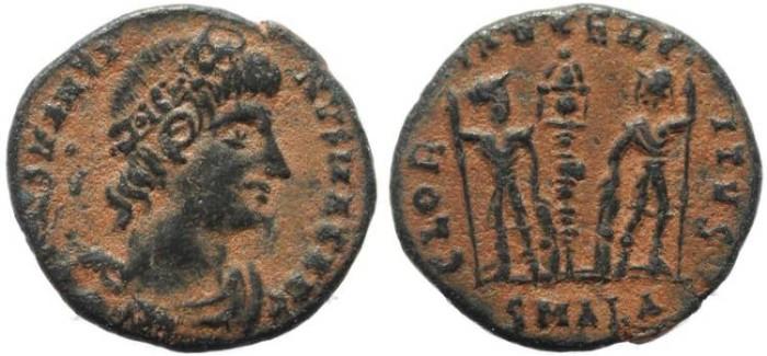 Ancient Coins - Constantine I Magnus - GLORIA EXERCITVS - Egypt