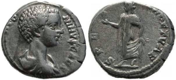 Ancient Coins - Caracalla as Caesar 198-217AD Denarius - Spes - Scarce