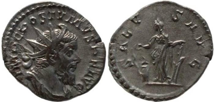Ancient Coins - Postumus silver antoninianus - SALVS AVG