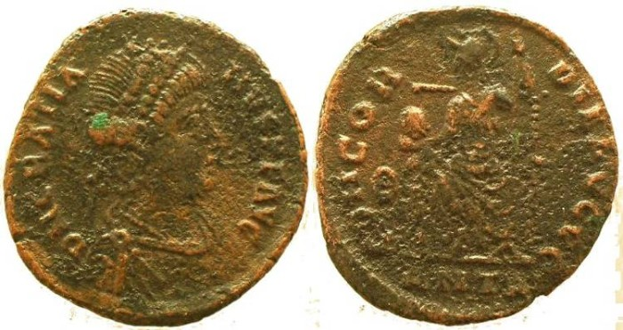 Ancient Coins - Gratian Ae17 - CONCORDIA AVGGG