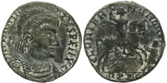 Ancient Coins - Roman coin of Magnentius AE Centenionalis - GLORIA ROMANORVM - Lugdunum