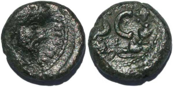 Ancient Coins - Lucius Verus? Ae17 Antiochia ad Orontem, SGI 1871?