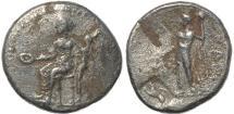 Ancient Coins - Cilicia Nagidos AR silver stater, Aphrodite Dionysos 400-350BC